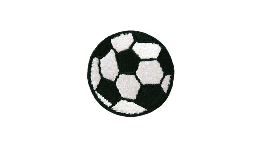 Mono Quick Buegelmotiv Mini Fussball schwarz weiss