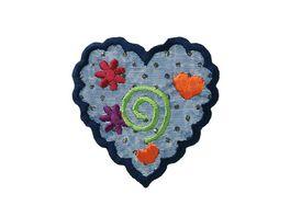 Mono Quick Buegelmotiv Herz mit Glitter