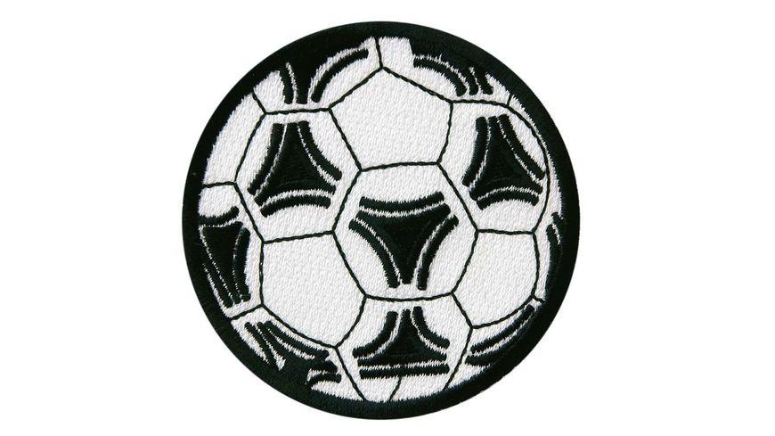 Mono Quick Buegelmotiv Fussball schwarz weiss