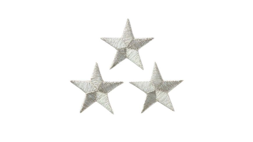 Mono Quick Buegelmotiv Sterne silber