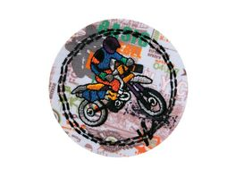 Mono Quick Buegelmotiv Cross Mopedfahrer