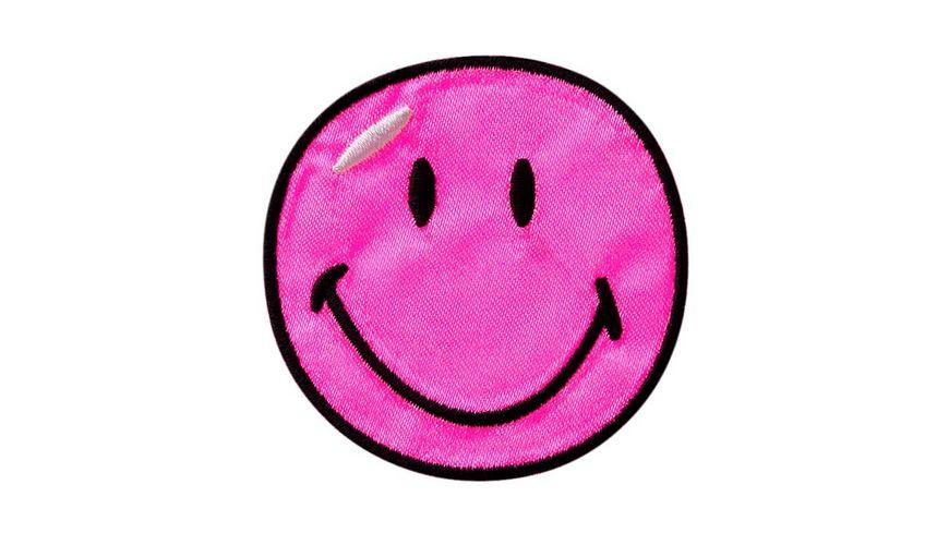 Mono Quick Buegelmotiv Smiley pink Satin