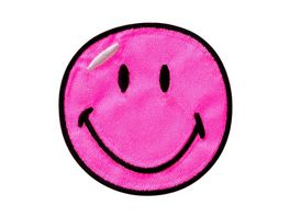 Mono Quick Buegelmotiv Smiley pink Satin