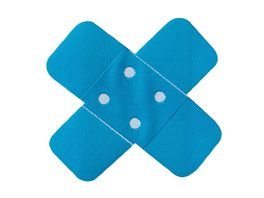 Mono Quick Buegelmotiv Pflaster neonblau