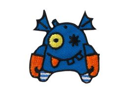 Mono Quick Buegelmotiv Monster blau orange