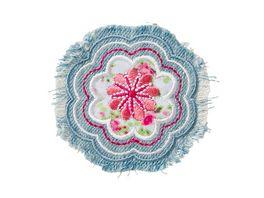 Mono Quick Buegelmotiv Blume hellblau fetzig