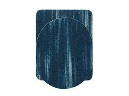 Mono Quick Buegelmotiv Flicken blau Sparpack