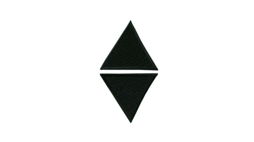 Mono Quick Buegelmotiv Dreiecke schwarz