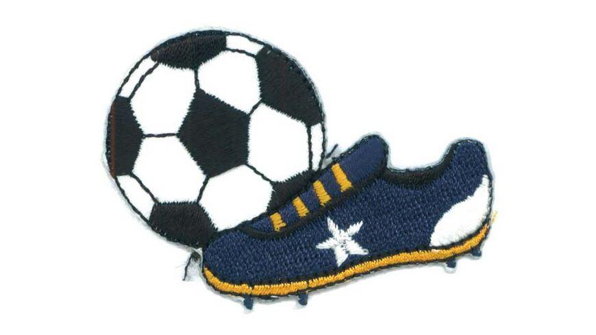 Mono Quick Buegelmotiv Fussball mit Schuh