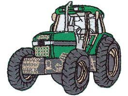 Mono Quick Buegelmotiv Traktor gruen