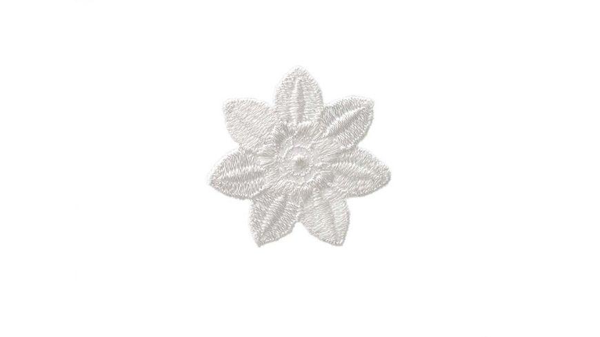 Mono Quick Buegelmotiv Blume weiss