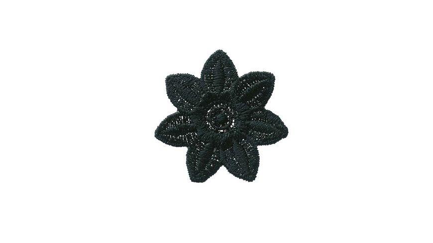 Mono Quick Buegelmotiv Blume schwarz