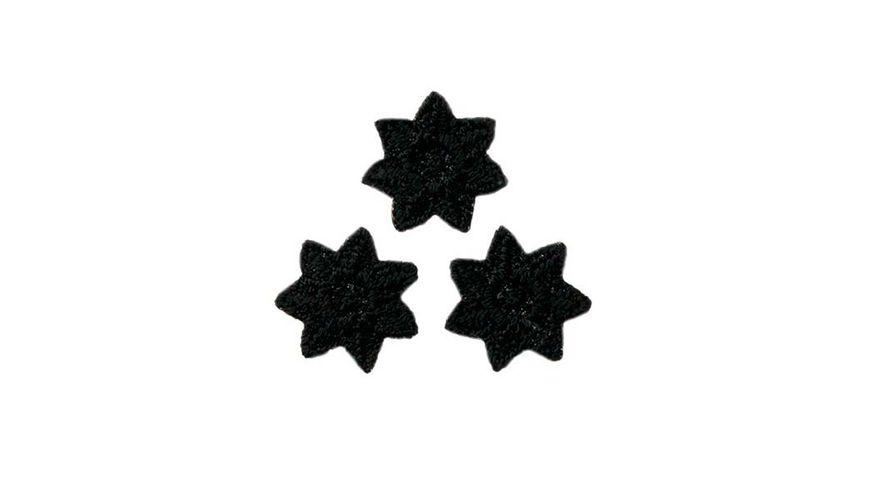 Mono Quick Buegelmotiv Sternchen schwarz