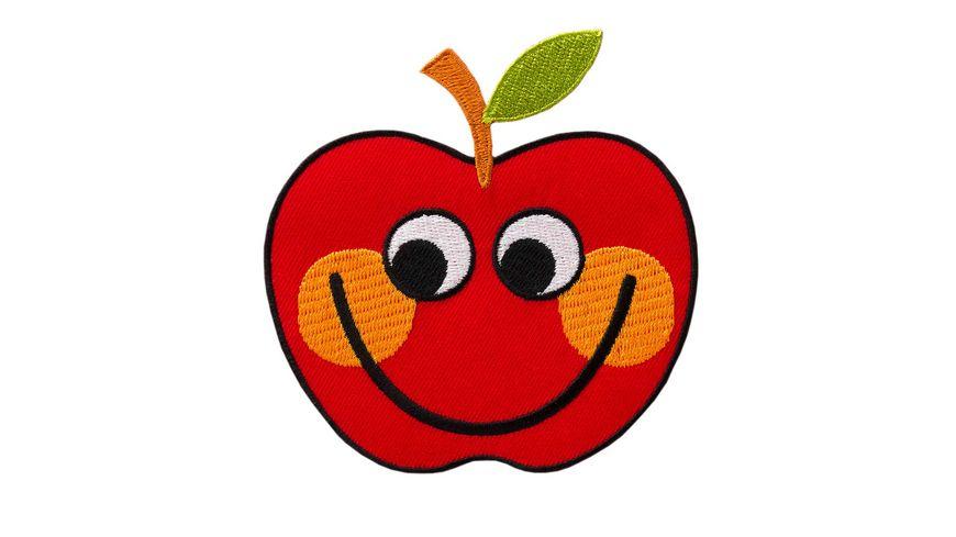 Mono Quick Bügelmotiv Apfel mit Gesicht