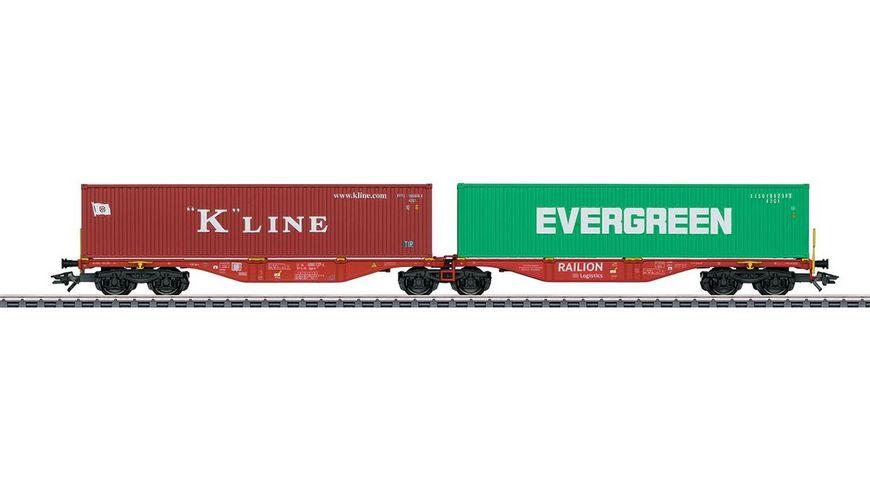 Maerklin 47800 Doppel Containertragwagen Bauart Sggrss 80