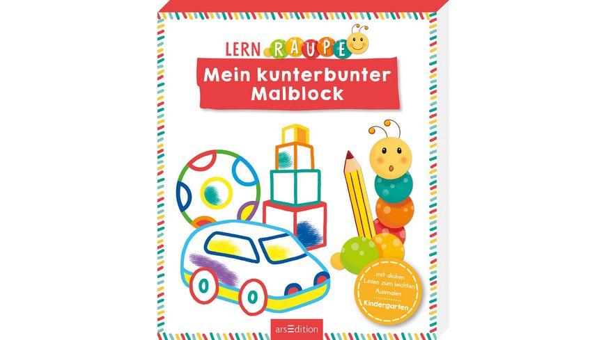 Buch Ars edition Lernraupe Mein kunterbunter Malblock