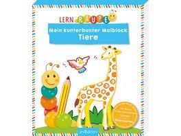 Buch Ars edition Lernraupe Mein kunterbunter Malblock Tiere