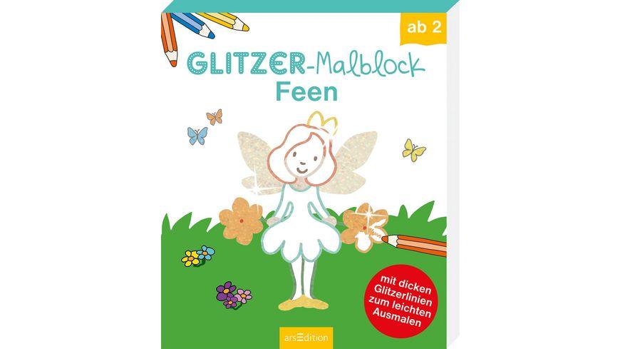 Buch Ars edition Glitzer Malblock Feen