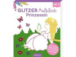 Buch Ars edition Glitzer Malblock Prinzessin