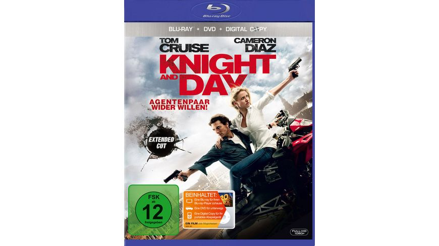 Knight and Day Extended Cut Digital Copy Disc inkl Digital Copy