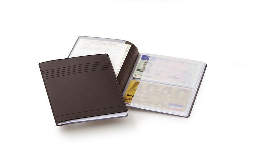 DURABLE Ausweishuellen Ausweis und Kartentasche schwarz grau