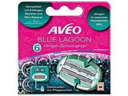 Aveo Blue Lagoon 6 Klingen Damen Ersatzklingen