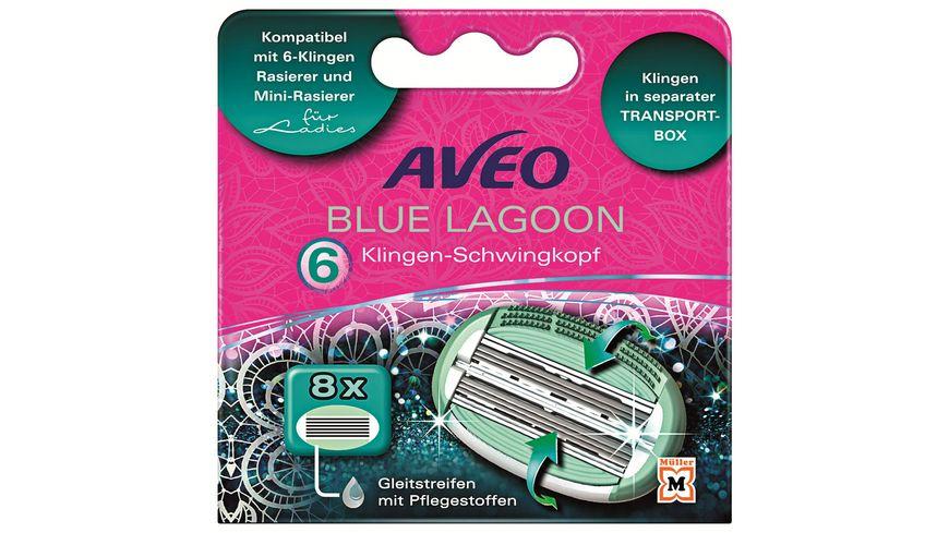 Aveo Blue Lagoon 6 Klingen Damen Ersatzklingen 8 Stück