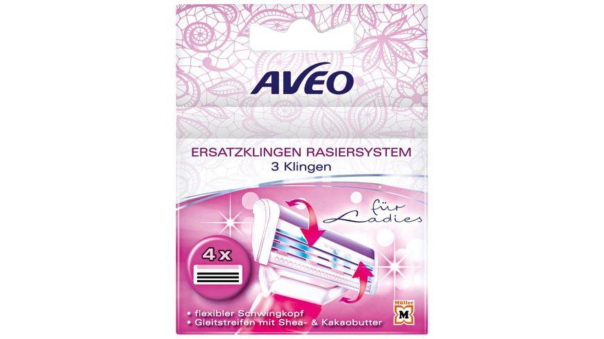 AVEO Lady 3-Klingen Damen Ersatzklingen 4er