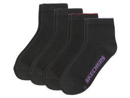 SKECHERS Damen Socken Quarter Basic 4er Pack