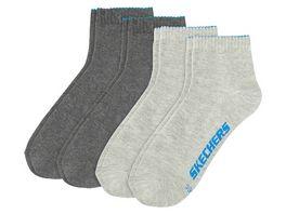 SKECHERS Herren Socken Quarter Basic