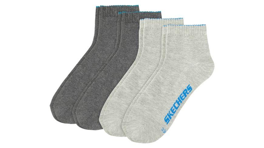 SKECHERS Herren Socken Quarter Basic 4er Pack