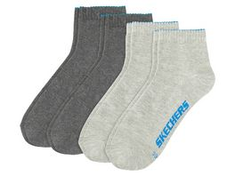 SKECHERS Herren Socken Quarter Basic 4er Pack