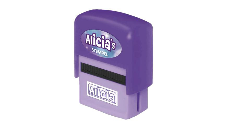 H H Namen Stempel Alicia