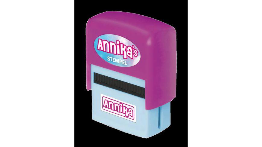 H H Namen Stempel Annika