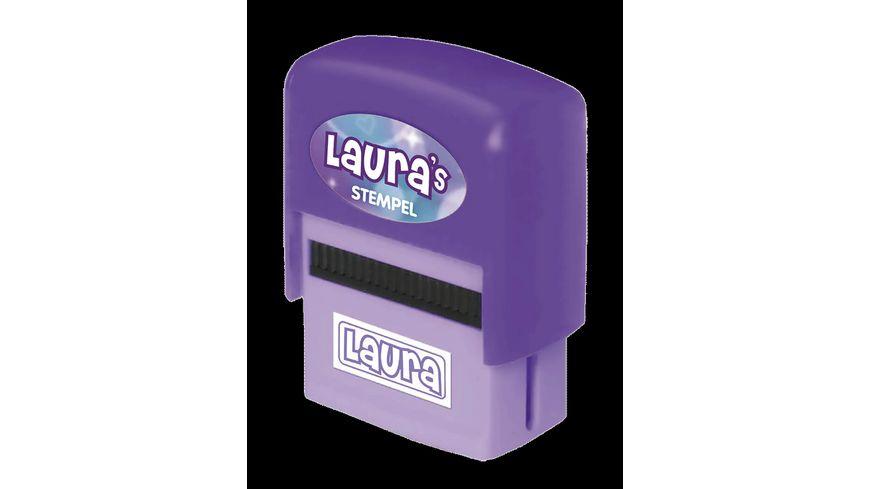 H H Namen Stempel Laura