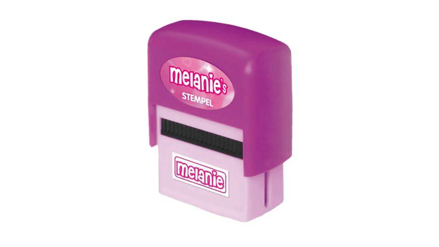 H H Namen Stempel Melanie