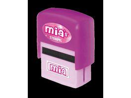 H H Namen Stempel Mia
