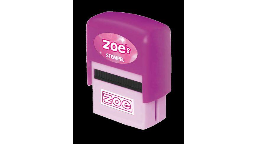 H H Namen Stempel Zoe