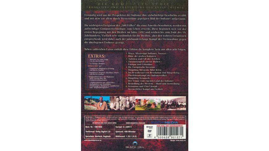 500 Nations Die Geschichte der Indianer Limitierte Sammleredition 2 DVDs Bonus DVD