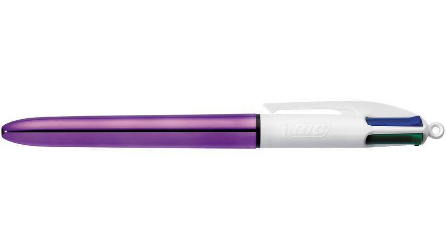 BIC Kugelschreiber 4 Farben Color Shine lila