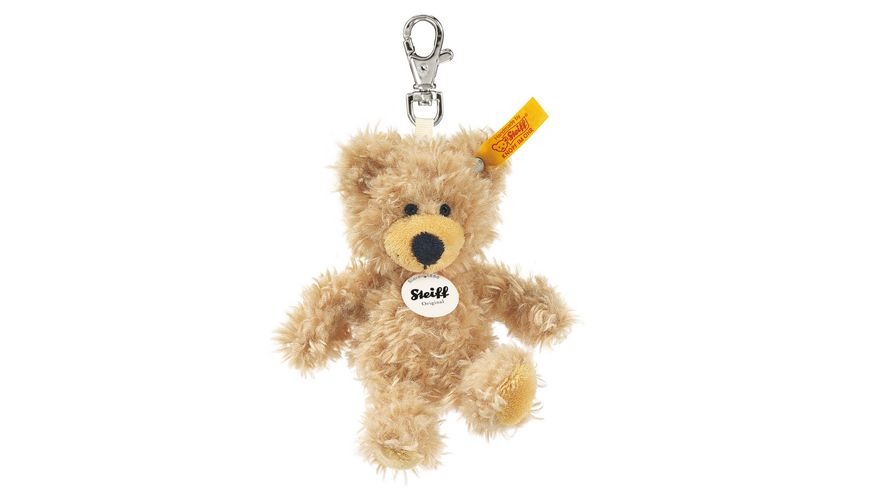 Steiff Teddybaeren Teddybaeren fuer Kinder Schluesselanhaenger Charly Teddybaer beige 12cm
