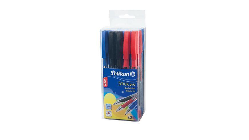 Pelikan Kugelschreiber Stick Pro Box mit 20 Stueck