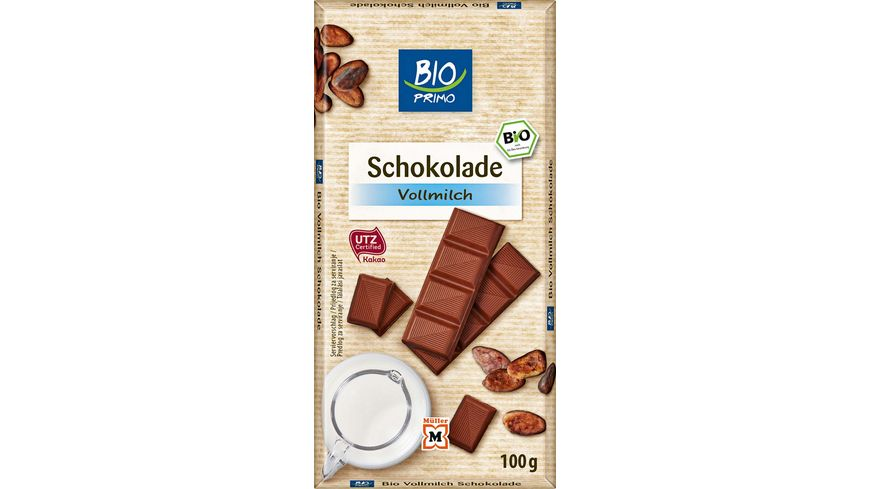 BIO PRIMO Schokolade Vollmilch