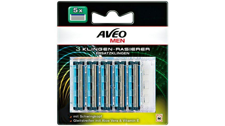 AVEO MEN 3-Klingen Rasierer Ersatzklingen 5er
