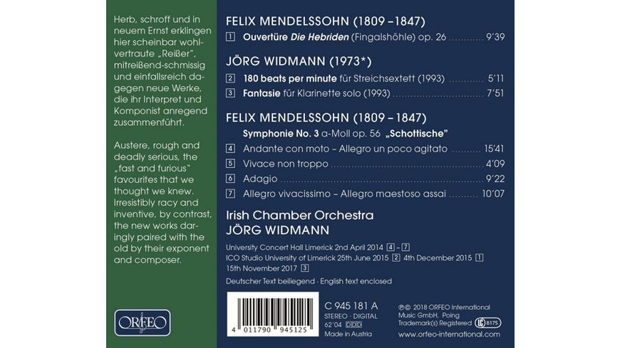 Sinfonie 3 180 Beats per Minute Die Hebriden