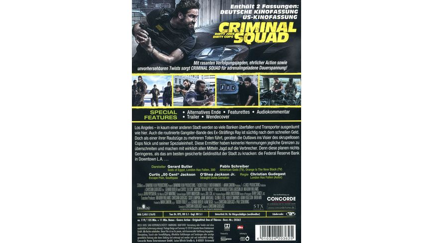 Criminal Squad Special Edition 2 DVDs