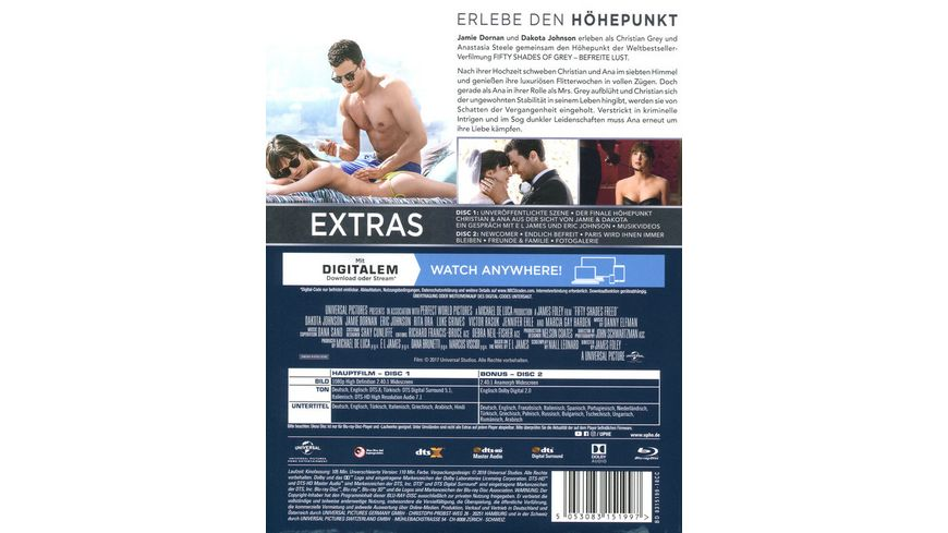 Fifty Shades of Grey Befreite Lust Limitierte Edition Combo Pack im DigiBook DVD