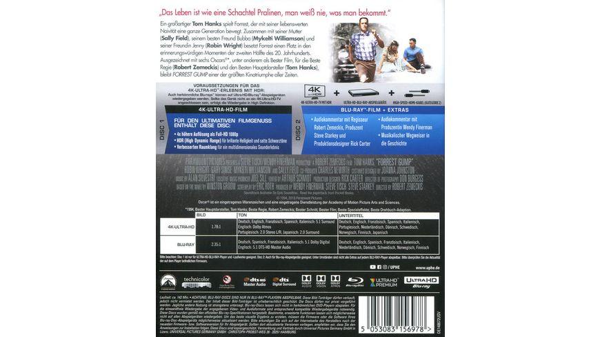 Forrest Gump 4K Ultra HD Blu ray 2D