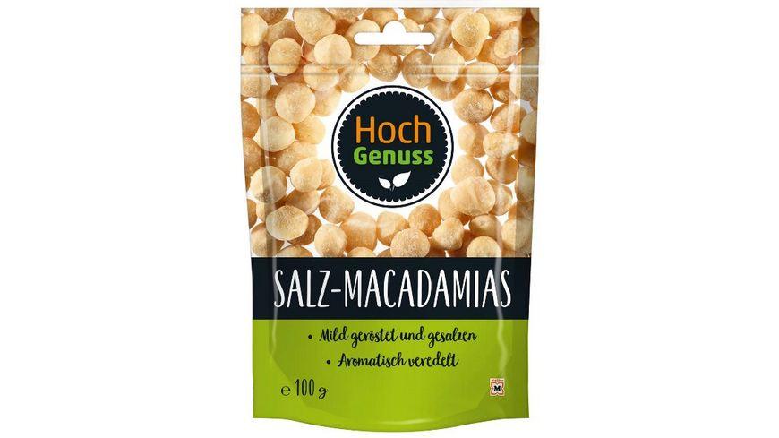 Hochgenuss Macadamias gesalzen