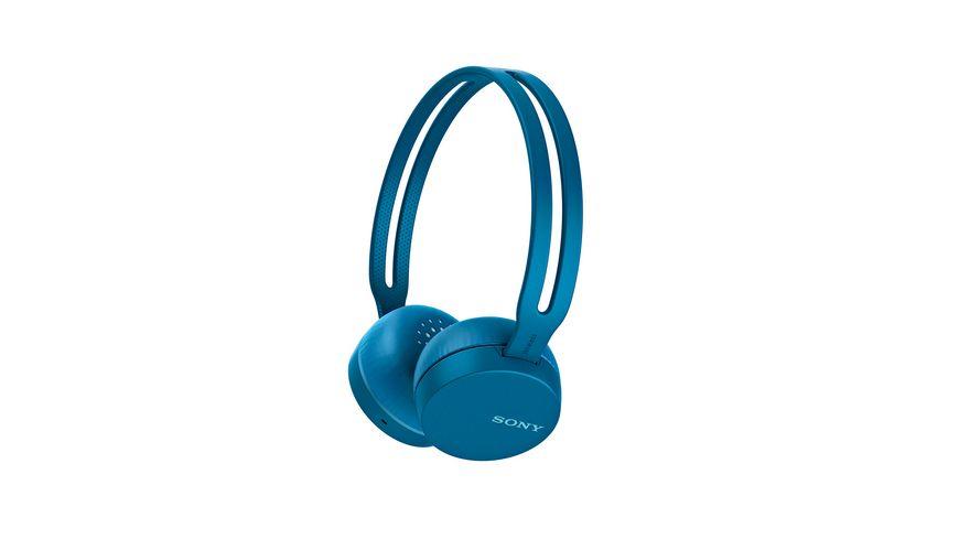 Sony Bluetooth Kopfhoerer WH CH400B Blau